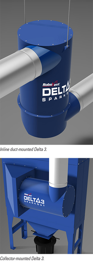 Centrifugal Spark Arrestor : Delta spark arrestor robovent
